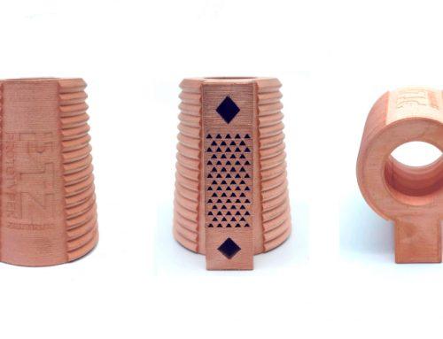 PTZ druckt Werkzeugkühler aus Kupfer mit dem Markforged Metal X