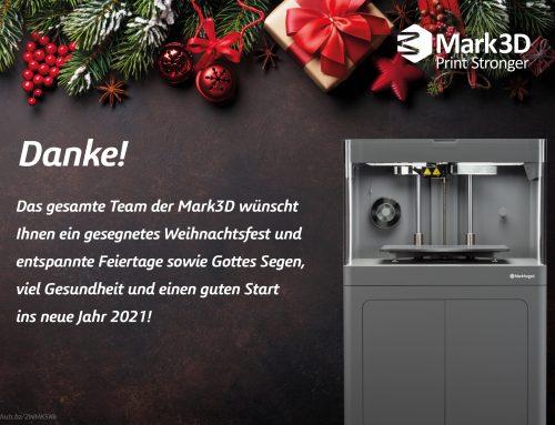 Mark3D und Markforged – Jahresrückblick 2020