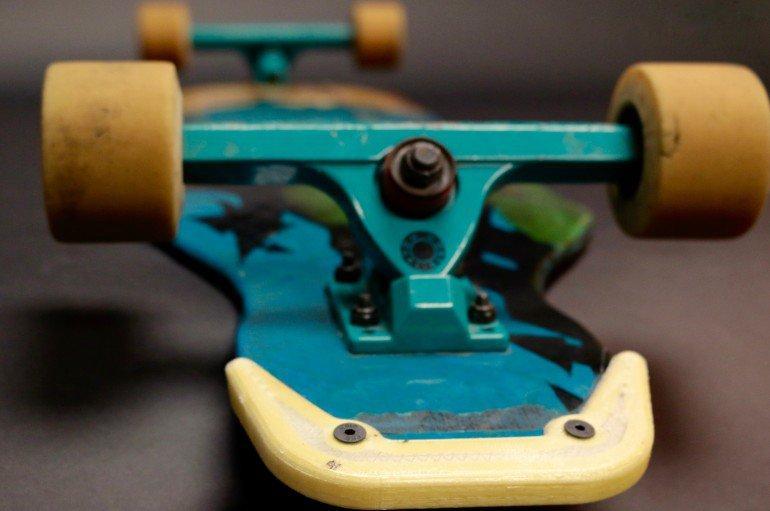 3D gedruckter und faserverstärkter Abriebschutz für Longboards
