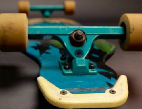3D printed and Kevlar reinforced abrasion protection for Skateboards